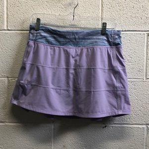 Lululemon purple & blue Pace setter skirt sz 8
